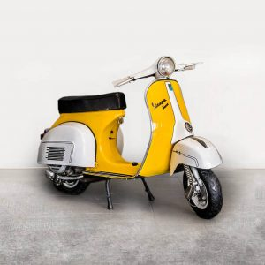 Vespa P150X - Yellow/White Angle