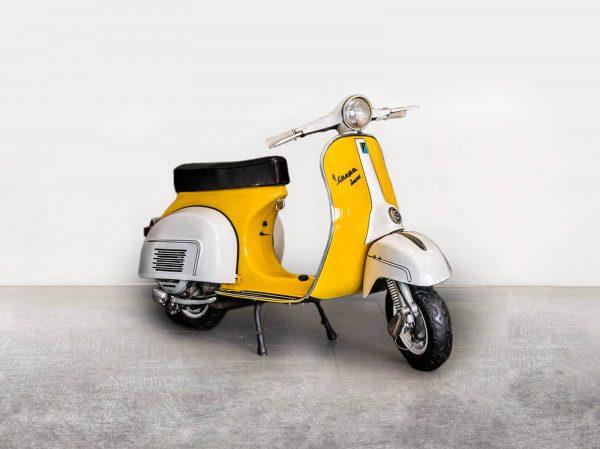 Vespa P150X - Yellow/White Angle